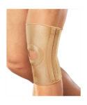 Бандаж на коленный сустав эластичный с металлическими спиральными ребрами